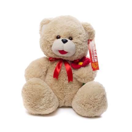 Мягкая игрушка Медведь с цветком 50 см Нижегородская игрушка См-382-ц-5