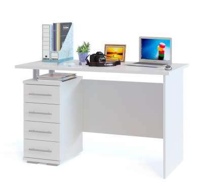 Письменный стол СОКОЛ КСТ-106 Домино Лайт СКЛ-Угл 120, белый
