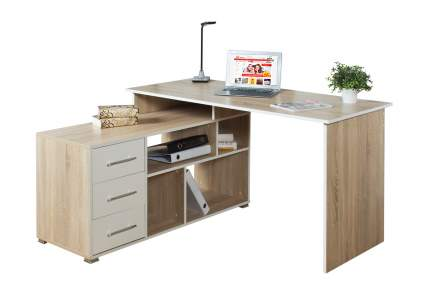 Компьютерный стол Hoff 80327668, бежевый/белый