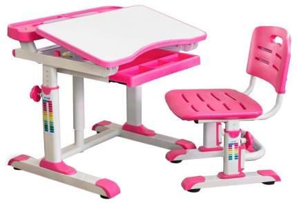 Комплект мебели Mealux столик + стульчик + лампа BD-09 белый, розовый