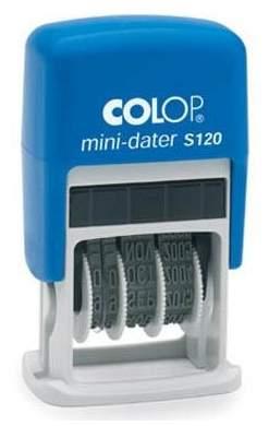 Датер Cоlop Printer S 120 Банковский. Высота шрифта даты: 3,8 мм. Цвет корпуса: синий.