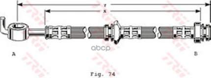 Шланг тормозной системы TRW для PHD123 задний