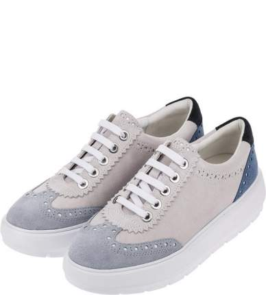 Кеды женские GEOX D92ANA 00022 C1QF3 синие/белые/серые 40