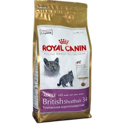 Сухой корм для кошек ROYAL CANIN British Shorthair, британская, домашняя птица, 2кг