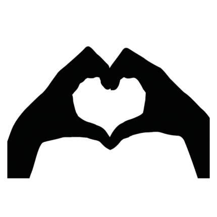 """Чехол для ноутбука 13"""" Case It Heart Hands черный"""