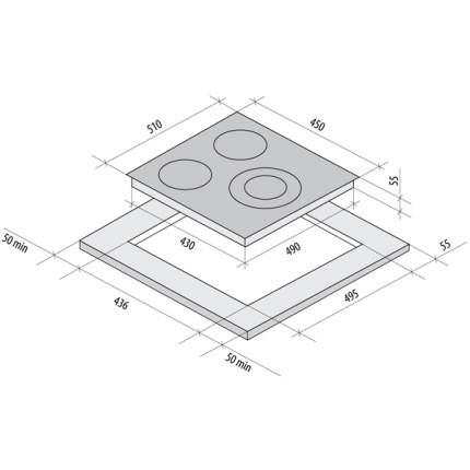 Встраиваемая варочная панель электрическая Fornelli PV 45 DELIZIA White