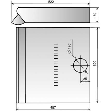 Вытяжка подвесная Elikor Davoline 60П-290-П3Л Copper