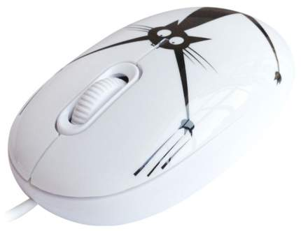 Проводная мышка CBR Crazy Cat White