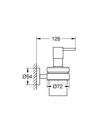 Дозатор жидкого мыла GROHE Essentials с держателем, хром
