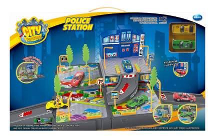 Игровой набор Dave toy Полицейский участок с 2 машинками