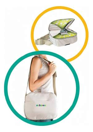 Стульчик-сумка Жирафики для кормления и путешествий с воздушной подушкой