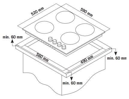 Встраиваемая варочная панель газовая Zigmund & Shtain GN 228.61 W White