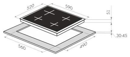 Встраиваемая варочная панель газовая MAUNFELD MGHG 64 76 RIG Black