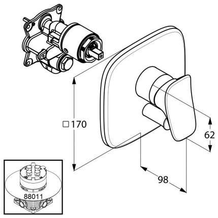 Смеситель для встраиваемой системы Kludi Ambienta 536500575 хром