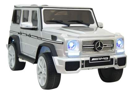 Электромобиль Mercedes-Benz серебристый глянец RIVERTOYS