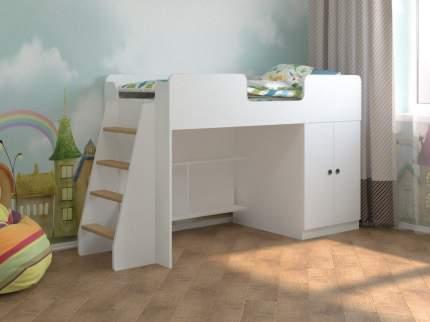 Кровать-чердак Пятая точка Белая