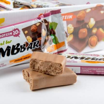 Протеиновый батончик Bombbar Protein Bar 60 г шоколад с фундуком
