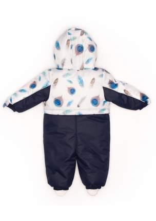 Комбинезон Malek-Baby №222/2 перья, синий, 255шм р.74