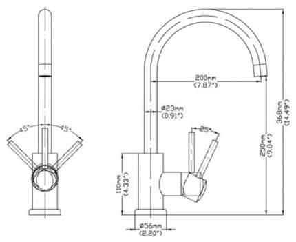 Смеситель для кухонной мойки Seaman SSN-2060 395356 хром