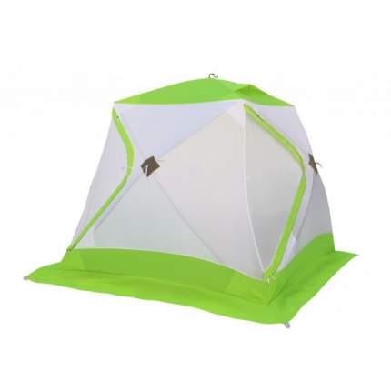 Палатка-полуавтомат Лотос Куб Классик А8 трехместная белая/зеленая