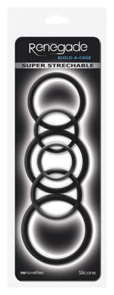 Набор эрекционных колец Renegade Build-A-Cage Rings Black 6 шт, черный