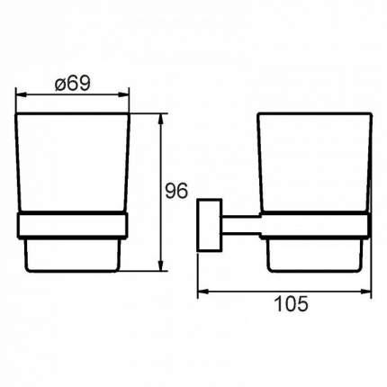 Стакан для зубных щеток Milardo Solomon SOLSMG0M45