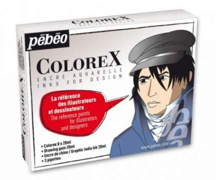 Акварельные чернила Pebeo Colorex 320299 8 цветов