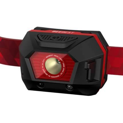 Туристический фонарь налобный Xiaomi Bee Best Ultra Light FH100 red, 4 режима