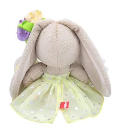 Зайка Ми с зайчиком и нарядным цветком, 15 см