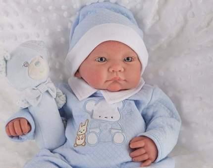 "Кукла-младенец ""Виктория"", в голубом (40 см)"