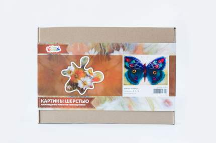 """Набор для изготовления картины шерстью Цветной """"Бабочка Артемида"""" SH033"""