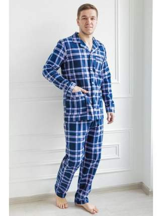 Мужская пижама из фланели LikaDress 6266 р.54