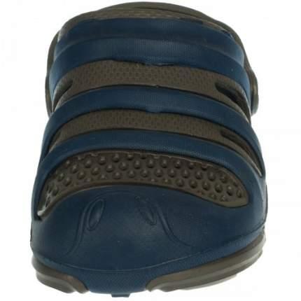 Шлепанцы детские LIGHT резиновые коричнево-синие, размер 35