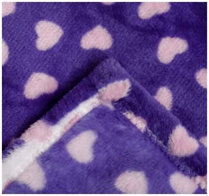 Плед Крошка Я Сердечки цвет фиолетовый 130×160 см