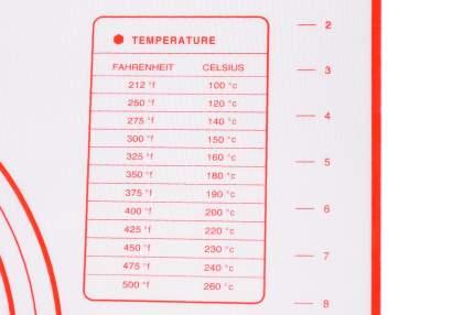 Силиконовый коврик для выпечки с разметкой 60x40 см + скребок