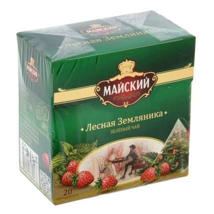 Чай зеленый Майский лесная земляника 20 пирамидок