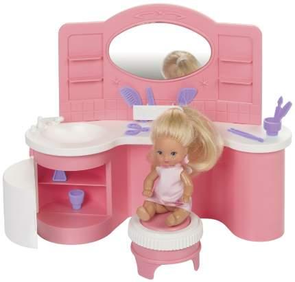 Мебель для кукол Огонек Салон Парикмахерская Сиреневый Фиолетовый Розовый