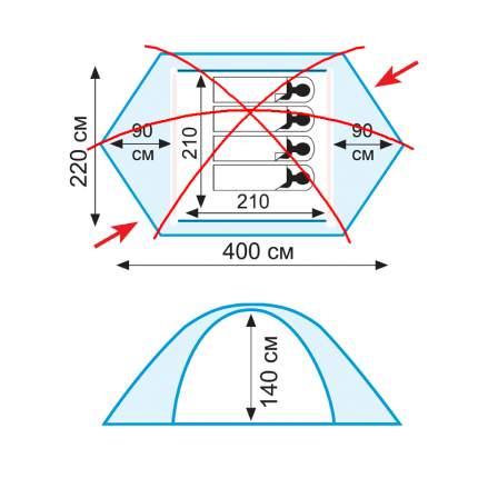 Комплект алюминиевых дуг для палатки Tramp Rock 4