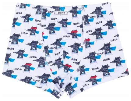 Трусы для мальчика Barkito 2 шт., голубые и белые с рисунком волчок р.134-140