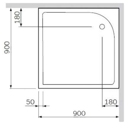 AM.PM W53A-160L105W-R Bliss L, каркас в комплекте с набором, левосторонний, 160х105 см