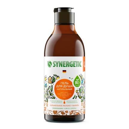Гель для душа SYNERGETIC «Карамельное яблоко и ваниль» натуральный, 0,38л