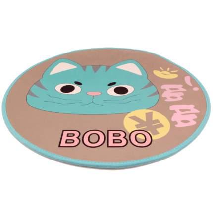 Коврик для кошек и собак Bobo кот, полиэстер, резина, голубой, 60x60 см