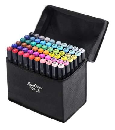Набор профессиональных двухсторонних маркеров для скетчинга 60 цветов в чехле