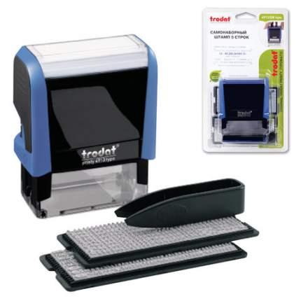 Штамп Trodat пластмассовый, самонаборный 58 мм х 22 мм