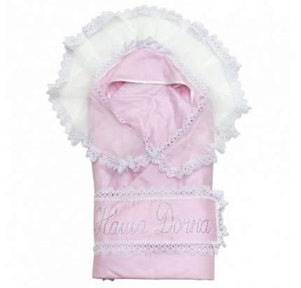 Одеяло на выписку Топотушки Ангелочек с уголком розовый