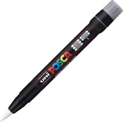 Маркер-кисть Uni POSCA PCF-350 0,1-10,0мм белый (white)