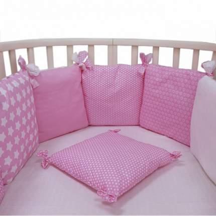 Борт в кроватку Топотушки 12 месяцев розовый