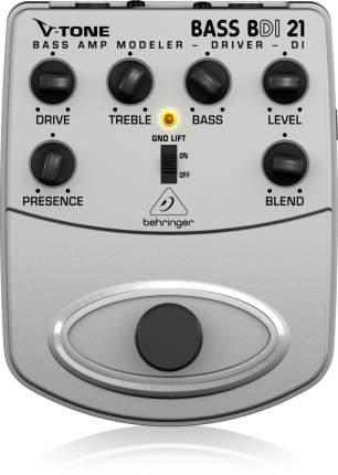 Эмулятор басовых усилителей Behringer BDI21 Bass Amp Modeler