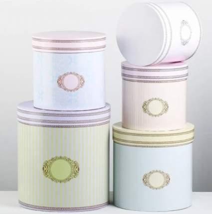Набор круглых подарочных коробок 5 в 1 «Ладури», 23 × 23 × 25‒15 × 15 × 15 см Sima-Land