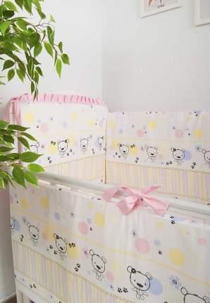 Сонный гномик бампер в кроватку сонный гномик конфетти (розовый)